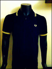 Fred Perry Black And Yellow Polo Sales