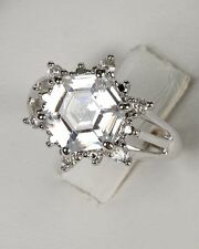 New Avon Silver NOELLA Faux Diamond Crystal Star Engagement RING -Sz 6, 7, 10 11