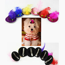 10pcs Dog Hat Hair Clips Cute Party Show Grooming For Dogs Glitzy Pet Products