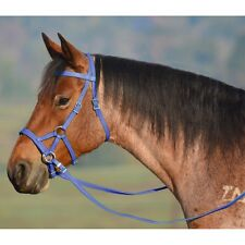 MINI  SIZE  SIDEPULL Bitless Bridle & REINS, BETA BIOTHANE (Solid Colored)
