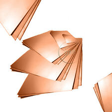 Copper Sheet Plate 0.7 0.9 or 1.2 mm Thick, Size Options Available C101 Grade