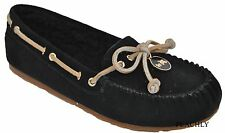 Coach Antonia Suede Shoes Slipper Moccasins Flats Loafer Black New All Sizes NWB