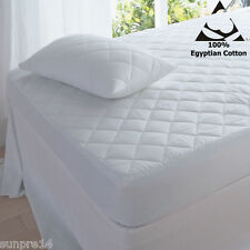 """LUXURY 16"""" EXTRA DEEP  & 10""""  QUILTED MATTRESS PROTECTOR  FITTED SHEET ALL SIZE"""