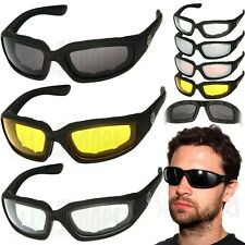 3 PAIR COMBO Chopper Padded Wind Resistant Sunglasses Motorcycle Riding Glasses