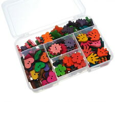 Wholesale Mixed  Wooden Buttons Kit Fit Sewing Scrapbooking