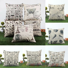 European Classic Cotton Linen Cushion Cover Throw Pillow Case Home Decor 45x45cm