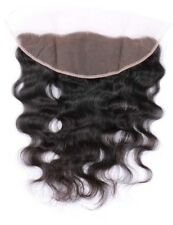 "Brazilian Body Wave Lace Frontal 13x4"" Virgin Human Hair Closure Bleached Knots"