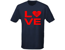 Love 'Your Text' Personalised Valentine Mens Funny T-Shirt (12 Colours)