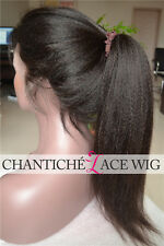 Italian Yaki Indian Remy Human Hair Full Lace Wigs Glueless African Americans
