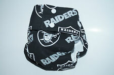 NFL Oakland Raiders Washable Cloth Diaper /PUL/Preemie/Baby/Infant/Toddler