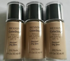 X 3 JOBLOT REVLON COLORSTAY FOUNDATION GENUINE WHOLESALE MAKE UP