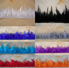 High quality pheasant tail Feather Fringe Trim 3-5'' Party DIY 13 color choice