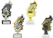 Football Trophies Silver, Gold, Antique Boot & Ball Star Award FREE Engraving