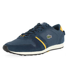 Lacoste - Mens Tevere Fas Shoes In Dk Blue/Yellow