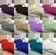 plain dyed duvet quilt cover withpillowcase or sheet set size single double king