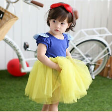NEW Baby Girls Kids Toddler Princess Flower Party Formal Gown Fancy Dress 2-7Y