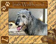 IRISH WOLFHOUND: ENGRAVED ALDERWOOD PICTURE FRAME #0100. In four sizes.