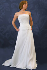 Chiffon Hand Beaded Strapless OR HALTER Wedding dress NEW size 4 8 or 10 LOT