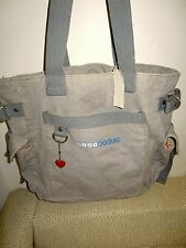 """Old Navy Women's """"Baby Buggy"""" Canvas w/Heart Charm Tote, Shoulder/ Hand Bag, NWT"""