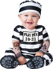 Infant Boys Time Out Prisoner Convict Cosplay Halloween Costume Fancy Dress