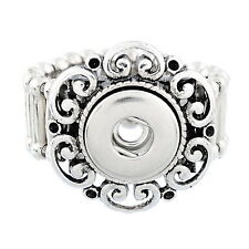 Wholesale Lots Hollow Stretch Adjustable Ring Fit Mini Snap Buttons size 7.5