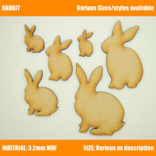 Easter Craft Shapes Bunny Rabbit Wooden MDF decoration, embellishment, Tags