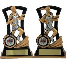 Running/Athletics Trophies Resin Male & Female Running Scene FREE Engraving