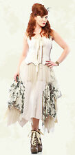 Lip Service Mecanique Menagerie Goth Steampunk Victorian Chiffon Gown Ivory