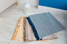 Gorgeous pastel striped rugs 60 x 120 cm size in 4 colours with unique loop ends