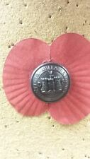 Regimental Poppy Button Pins - Single, Packs of 2 or 5