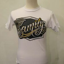 New FAMOUS STARS & STRAPS White Cotton Short Sleeve Graphic Family T-shirt