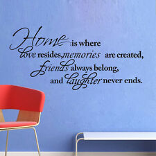 Home Quotes Decal Free shippinp Vinyl Art DIY Removable Mural Room Decor Bedroom