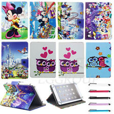 """Lovely Cartoon image Leather Case Cover For Most 7""""~7.9"""" Inch Tablets Kids Gift"""