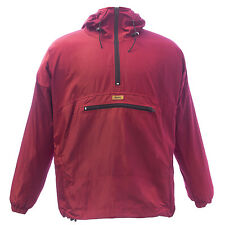 Durkl Men's Maroon Kayak Hooded Windbreaker Jacket 2406 $107 NEW
