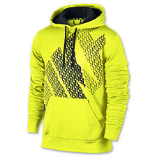 Nike Mens KO Block Pullover Hoodie Shirt Volt/Yellow Therma Multiple Sizes New