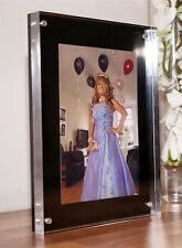 """CHESHIRE ACRYLIC desk block 20mm MAGNETIC 8x6"""" PHOTO PICTURE FRAME for a 6x4"""""""