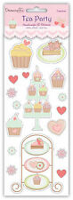 Dovecraft 'Tea Party' Stickers - Choice of 6 Options