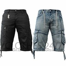 New Mens Eto Jeans Branded Designer Combat Cargo Summer Black Denim Shorts