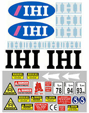 Decals Sticker Set for IHI mini digger pelle bagger excavator