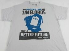 Mens NEW Doctor Dr. Who Support Our Timelords Gray Short Sleeve T-Shirt Sz L XL