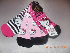 Primark  Ladies Pack 3 HELLO KITTY Trainer Socks Shoes Liners