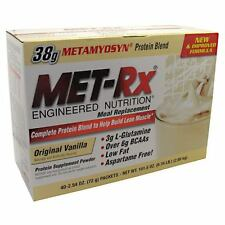 MET RX MEAL REPLACEMENT 40 PACK DISCOUNTED LOW PRICE 38GM PROTEIN POST WORKOUT