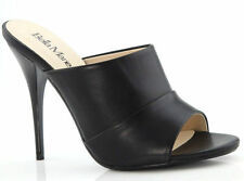 New Black High Heel Slide Mule Stiletto Open Toe Womens Shoes Dress Sandals