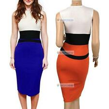 NEW Ladies Bodycon Dress Size 8-18 Summer Midi Skirt Evening Cocktail Party TOP