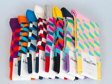 Happy Socks Men's Filled Optic Cotton Socks Size 10-13 Multiple Colors Available