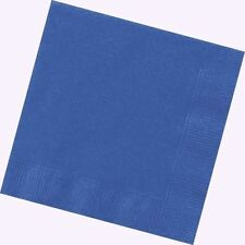 BLUE PAPER NAPKINS 2ply Serviettes Coloured Party Cocktail Wipes Tableware
