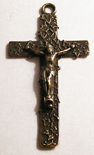 Crucifix with Ivy Antique Replica Rosary Crucifix Sterling Silver or Bronze 1043