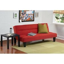 Microfiber Futon Sofa Couch Living Room Loveseat Modern Bed