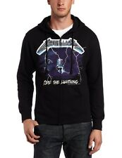 Metallica Ride the Lightning Black Sweatshirt Zip Up Hoodie