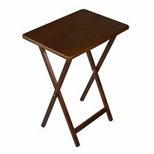 Folding Tray Table Desk TV Laptop Snack Dining Portable Wood ASSORTED Colors NEW